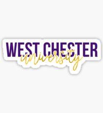 West Chester University - Style 13 Sticker