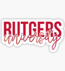 Rutgers University - Style 13 Sticker