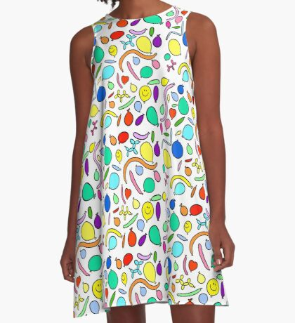 Party Balloons A-Line Dress