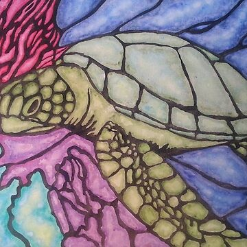 Stain glass turtle by Alinton12