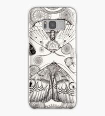 moth mandala Samsung Galaxy Case/Skin