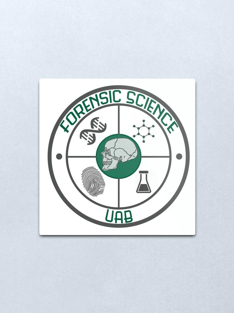 Forensic Science Uab Logo Metal Print By Hannersgab Redbubble