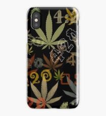 Marijuana Cannabis Weed 420 4:20 All Over The World iPhone Case/Skin