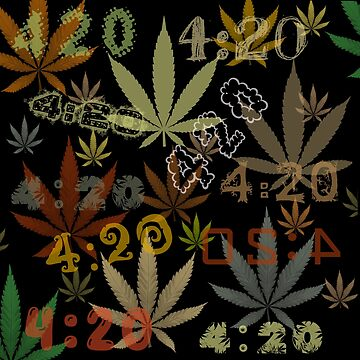 Marijuana Cannabis Weed 420 4:20 All Over The World by MarijuanaTshirt
