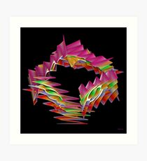 Ribbon Candy Art Print