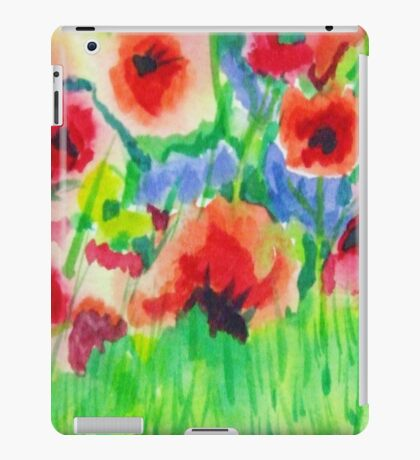 Poppy Field 2 iPad Case/Skin
