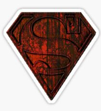 Rustic Red Superman Sticker