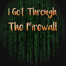 I Got Through The Firewall Kids Shirt by LaCaDesigns