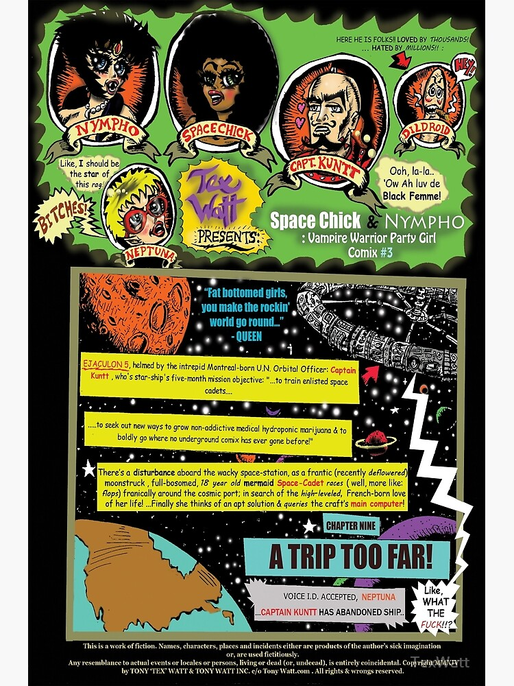 Page #1 of Tex Watt's  WEEKLY (UNCENSORED) SUNDAY COMIX POP-ART by TexWatt