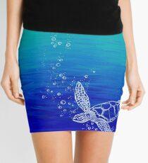 White Turtle Mini Skirt