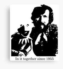 Jim Henson and Kermit the Frog Canvas Print