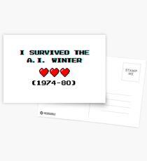 I survived the A.I. winter (8-bit 3D) Postcards
