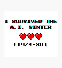 I survived the A.I. winter (8-bit 3D) Photographic Print