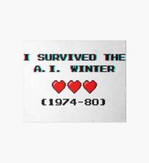 I survived the A.I. winter (8-bit 3D) Art Board