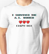 I survived the A.I. winter (8-bit 3D) T-Shirt