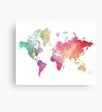 Watercolor World Canvas Print
