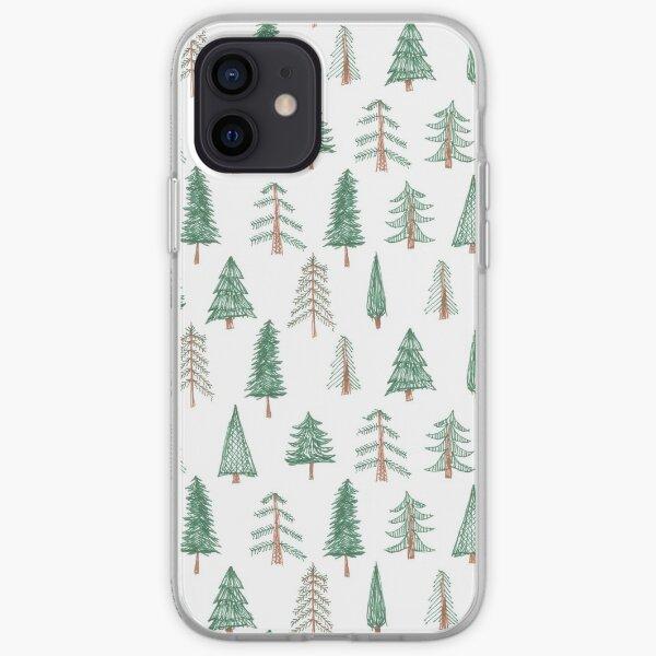 evergreen tree pattern iPhone Soft Case