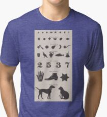 Vintage Symbols Eye Chart  Tri-blend T-Shirt