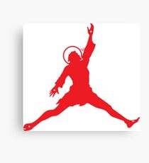 Air Jesus Solo by Tai's Tees Canvas Print