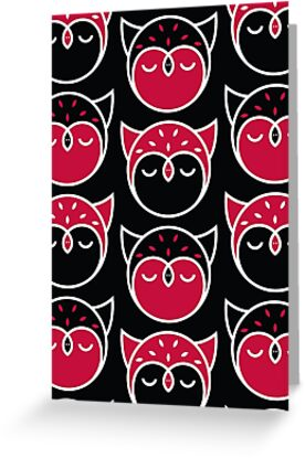 Graphic Owl Pattern by Mariya Olshevska