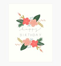 Fiona Happy Birthday/Greetings Card Art Print