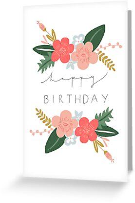 Fiona Happy Birthday/Greetings Card by Francesca  Fearnley