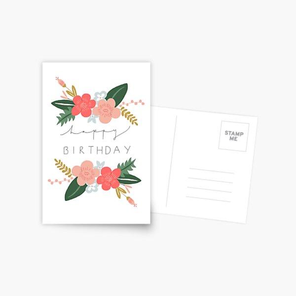 Fiona Happy Birthday/Greetings Card Postcard