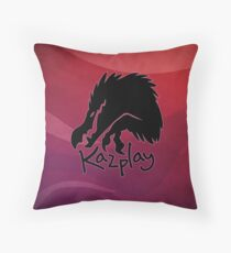 Kazplay logo Throw Pillow