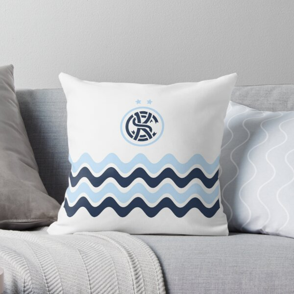 KC Soccer Blue Waves Throw Pillow