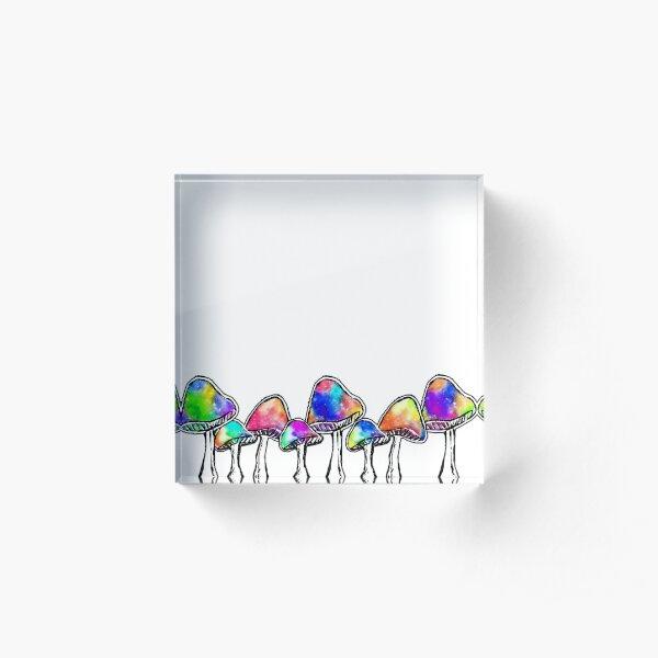 Magic Mushrooms Acrylic Block