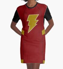 Magic Lightning Hero Graphic T-Shirt Dress