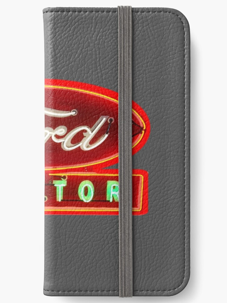 'Vintage Ford Neon and enamel Tractor sign by MotorMania ' iPhone Wallet by  MotorManiaTees