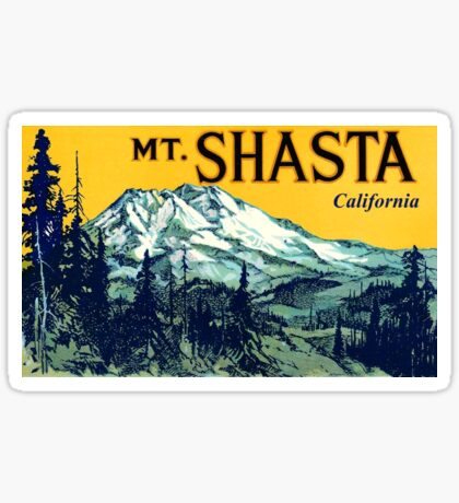 Mount Shasta California Vintage Travel Decal Sticker