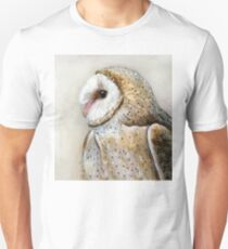 Barn Owl Watercolor Unisex T-Shirt