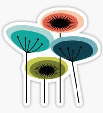 Flowers - Mid Century Sticker