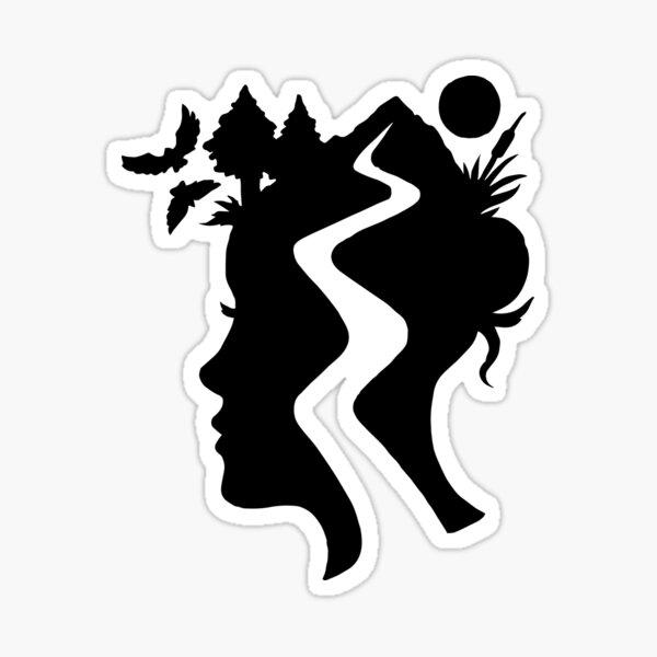TrailHead – Black - Female Version  Sticker