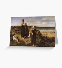 A Spring by the Sea,  - Jules Breton Greeting Card