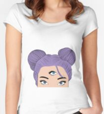 Evil eye Fitted Scoop T-Shirt