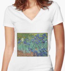 Irises Women's Fitted V-Neck T-Shirt
