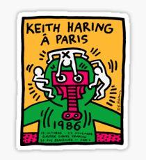 Keith Haring In Paris Sticker