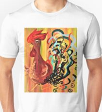 Curly Rooster Unisex T-Shirt