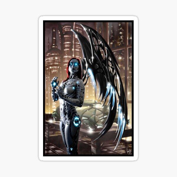 Robot Angel Painting 009 Sticker