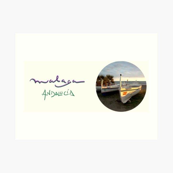 Jabega de Malaga · Fisherman´s Boat · Andalusien Art Print