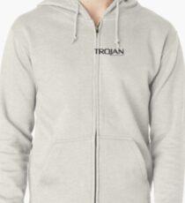Trojan Condoms Zipped Hoodie