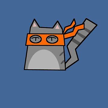 Michaelangelo Teenage Mutant Ninja Kitty by Rjcham