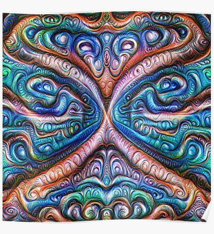 Frozen astral liquid #DeepDream #Art Poster
