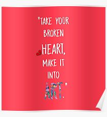 Broken heART (White) Poster