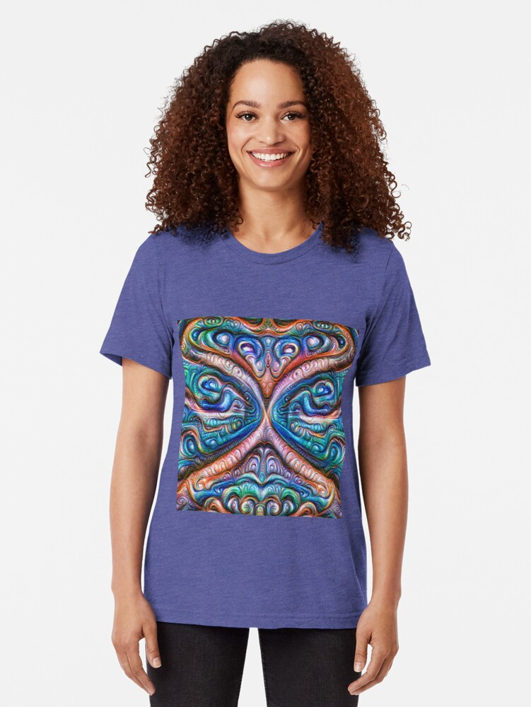 Alternate view of Frozen astral liquid #DeepDream #Art Tri-blend T-Shirt