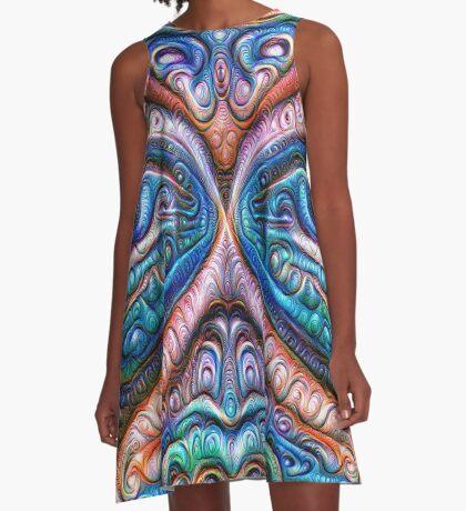 Frozen astral liquid #DeepDream #Art A-Line Dress