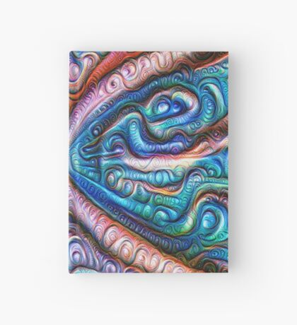 Frozen astral liquid #DeepDream #Art Hardcover Journal